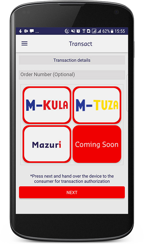 Pay with M-Kula or M-Tuza